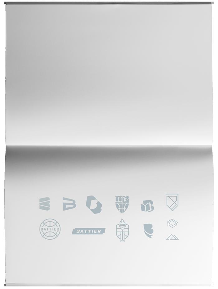 Battier logo sketches on paper
