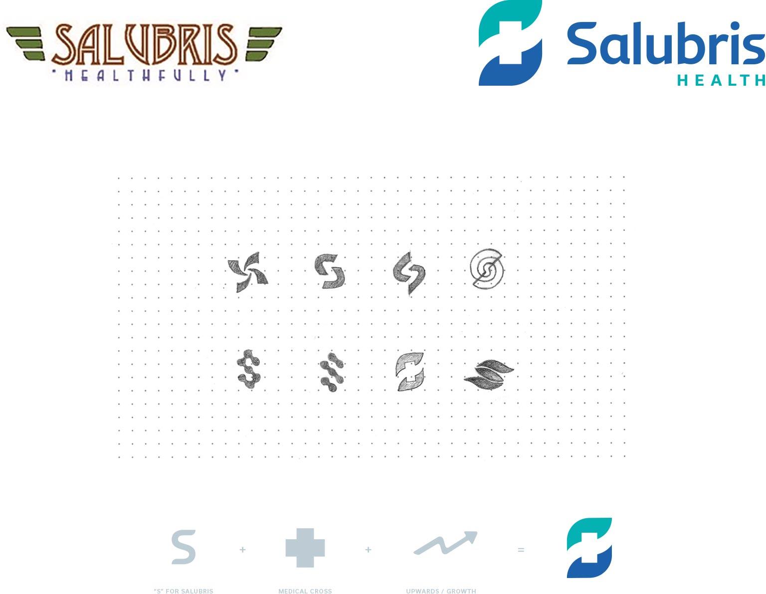 Salubris logo creation process